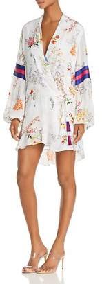 Rococo Sand Floral Faux-Wrap Mini Dress
