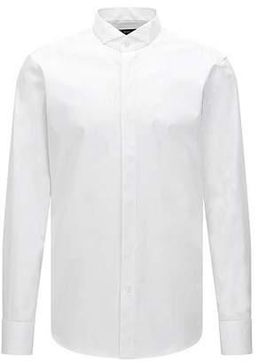 HUGO BOSS Regular-fit cotton business shirt with wing collar