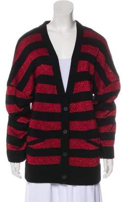 RtA Denim Striped Knit Cardigan