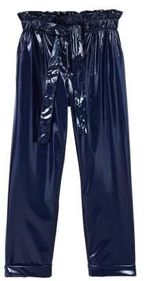 MANGO Paper bag vinyl trousers