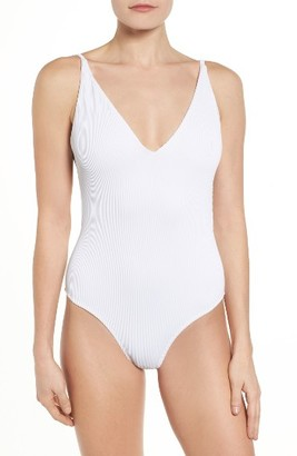 Women's Topshop Plunge One-Piece Swimsuit $45 thestylecure.com