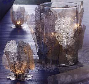 Roost Sea Fan Filigree Candleholders