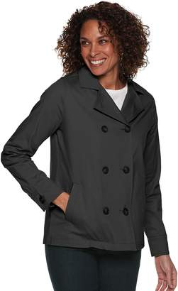 Croft & Barrow Petite Cropped Trench Coat