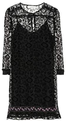 Coach Flocked velvet floral dress