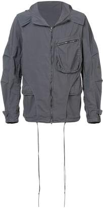 The Viridi-anne layered design hooded jacket