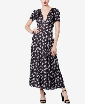 Betsey Johnson Bow-Print A-Line Maxi Dress