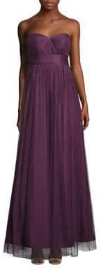 Jenny Yoo Women's Annabelle Convertible Tulle Gown - Raisin - Size 6