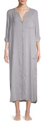 DKNY Printed Split Neck Sleep Gown