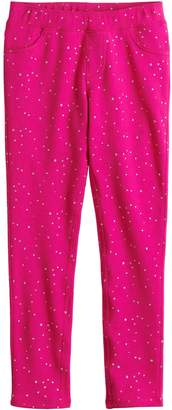 Osh Kosh Girls 4-10 Jumping Beans Printed French Terry Jeggings