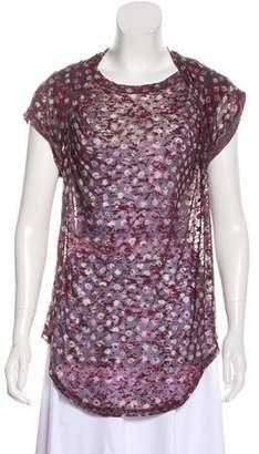 Etoile Isabel Marant Patterned Short Sleeve Top