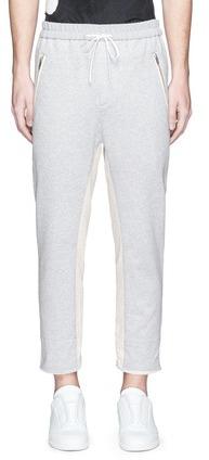 3.1 Phillip Lim3.1 Phillip Lim Raw cuff cropped cotton jogging pants