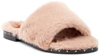 Kenneth Cole New York Peggy Faux Fur Leather Slide Sandal