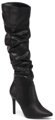 Scrunchy Knee High Pointed Toe Boots