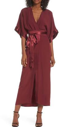 Adelyn Rae Kimono Midi Dress