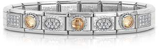 Nomination Classic Champagne Sterling Silver and Stainless Steel Bracelet w/Cubic Zirconia