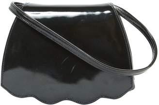 Renaud Pellegrino Black Patent Leather Clutch Bag