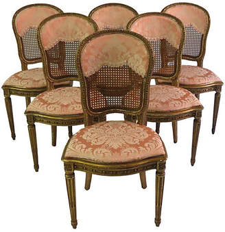 ... One Kings Lane Vintage Antique French Gilt Cane Chairs   Set Of 6    Chic Transitions