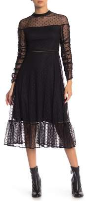 Betsey Johnson Victorian Glam Dotted Maxi Dress
