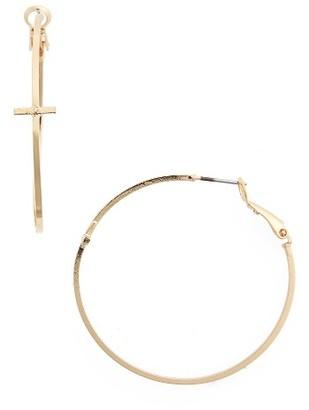 Women's Bp. Cross Hoop Earrings $12 thestylecure.com