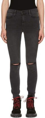 Frame Black Le High Skinny Jeans