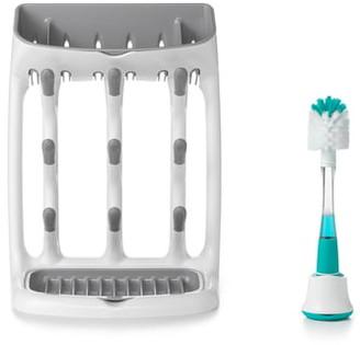 OXO Tot Bottle Cleaning Brush & Drying Rack Set