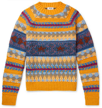 Acne Studios Slim-Fit Fair Isle Knitted Sweater