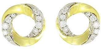 Frederic Sage 18K White & Yellow Gold Mini Halo Diamond Stud Earrings