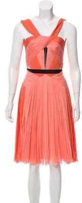 J. Mendel Pleated Silk Dress w/ Tags