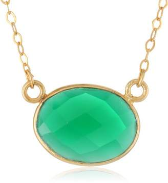 Lapis Gold-Plated Sterling Silver Onyx Pendant Necklace