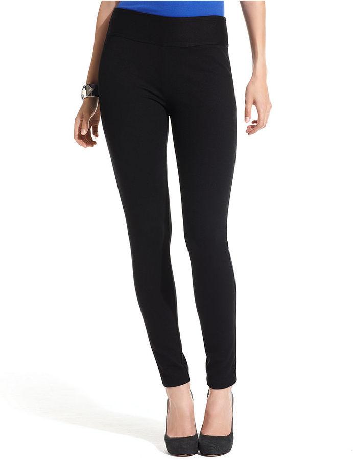INC International Concepts Petite Pants, Skinny Ponte-Knit Leggings