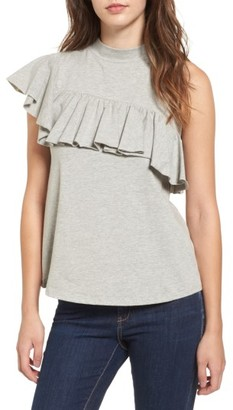 Women's Bp. Asymmetrical Ruffle Tee $35 thestylecure.com