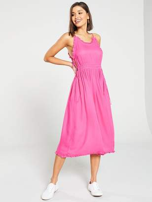 d78988badba Maison Scotch Spaghetti Strap Summer Midi Dress - Pink