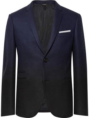 Neil Barrett Storm-Blue Slim-Fit Dégradé Virgin Wool-Blend Suit Jacket