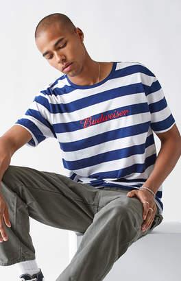 GUESS Pacsun x Budweiser Bud Stripe Blue & White T-Shirt