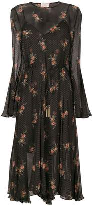 Zimmermann floral spotted long sleeved dress