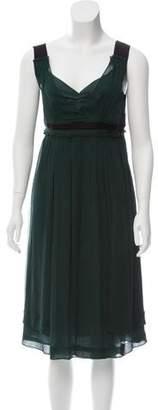 Miu Miu Silk Midi Dress w/ Tags