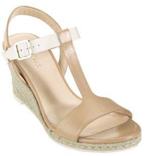 Cole Haan Elizabeth T-Strap Wedge Sandals