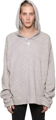 RtA Oversize Sloth Hooded Cotton Sweatshirt