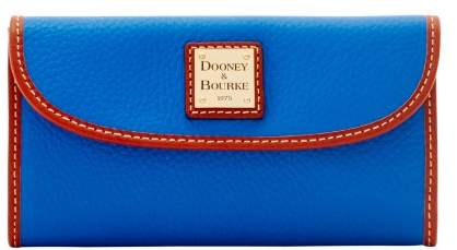 Dooney & Bourke Pebble Grain Continental Clutch Wallet - FRENCH BLUE - STYLE