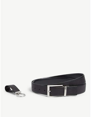 4ce70db5b8 HUGO Leather belt and keyring gift set