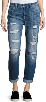 Miss Me Jetsetter Distressed Boyfriend Jeans, MK 467 $69 thestylecure.com