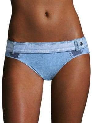 Jonathan Simkhai Denim Buckle Bikini Bottom