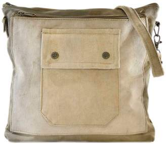 Vintage Addiction Recycled Military Tent Crossbody Bag