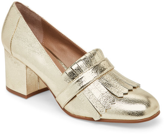 steve madden Gold Kate Kiltie Loafer Pumps