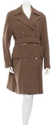 Max Mara Plaid Long Coat