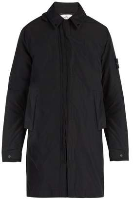 Stone Island - Zip Through Hooded Coat - Mens - Grey