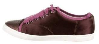 Lanvin Satin Low-Top Sneakers