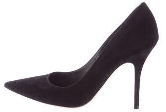 Christian Dior Suede Pointed-Toe Pumps