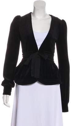 Juicy Couture Tie-Accented Long Sleeve Top
