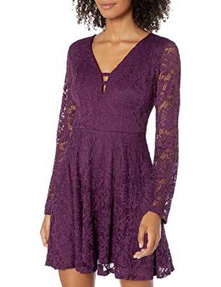 Speechless Junior's Long Sleeve Lace Dress